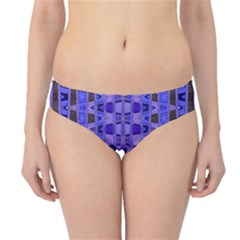 Blue Black Geometric Pattern Hipster Bikini Bottoms