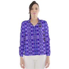 Blue Black Geometric Pattern Wind Breaker (Women)