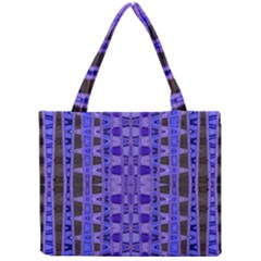 Blue Black Geometric Pattern Mini Tote Bag
