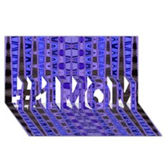 Blue Black Geometric Pattern #1 MOM 3D Greeting Cards (8x4)