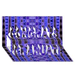 Blue Black Geometric Pattern Congrats Graduate 3d Greeting Card (8x4)
