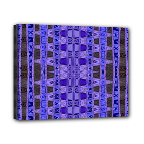 Blue Black Geometric Pattern Canvas 10  x 8