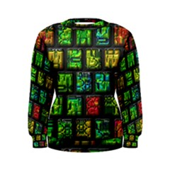 Colorful Buttons                Women s Sweatshirt by LalyLauraFLM