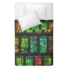 Colorful Buttons                Duvet Cover (single Size) by LalyLauraFLM