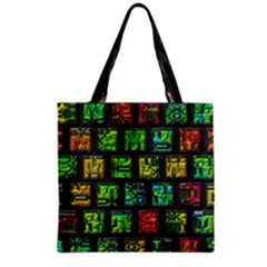 Colorful Buttons               Grocery Tote Bag by LalyLauraFLM
