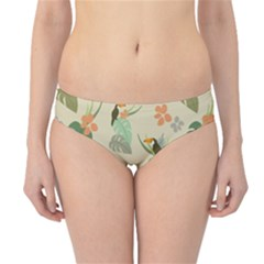 Tropical Garden Pattern Hipster Bikini Bottoms