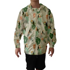 Tropical Garden Pattern Hooded Wind Breaker (kids)