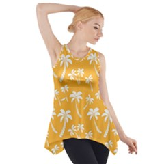 Summer Palm Tree Pattern Side Drop Tank Tunic