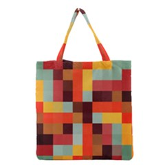 Tiled Colorful Background Grocery Tote Bag