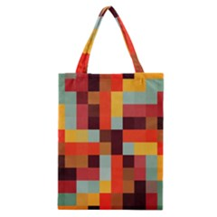 Tiled Colorful Background Classic Tote Bag