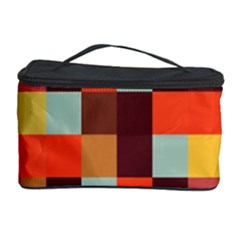 Tiled Colorful Background Cosmetic Storage Cases