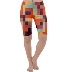 Tiled Colorful Background Cropped Leggings