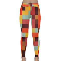 Tiled Colorful Background Yoga Leggings