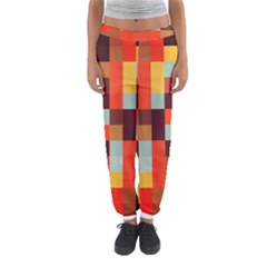 Tiled Colorful Background Women s Jogger Sweatpants