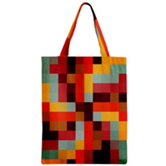 Tiled Colorful Background Zipper Classic Tote Bag