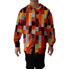 Tiled Colorful Background Hooded Wind Breaker (kids)