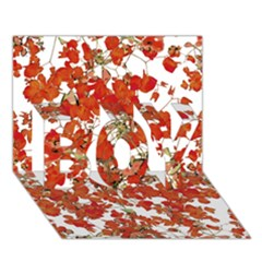 Vivid Floral Collage Boy 3d Greeting Card (7x5)
