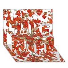 Vivid Floral Collage Take Care 3d Greeting Card (7x5)
