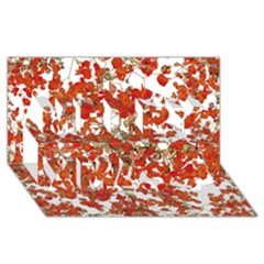 Vivid Floral Collage Merry Xmas 3d Greeting Card (8x4)