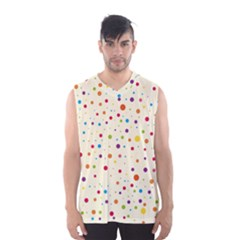 Colorful Dots Pattern Men s Basketball Tank Top