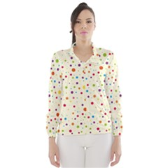 Colorful Dots Pattern Wind Breaker (women)