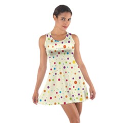 Colorful Dots Pattern Racerback Dresses