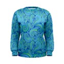 Abstract Blue Wave Pattern Women s Sweatshirt View1