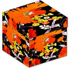 70s Flower Print Storage Stool 12   by TCH01