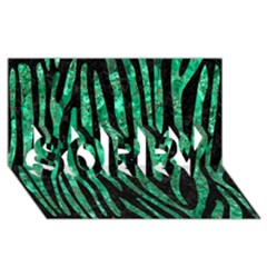 Skin4 Black Marble & Green Marble (r) Sorry 3d Greeting Card (8x4)