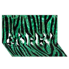 Skin4 Black Marble & Green Marble Sorry 3d Greeting Card (8x4)