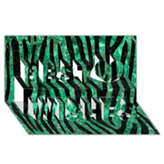 Skin4 Black Marble & Green Marble Best Wish 3d Greeting Card (8x4) by trendistuff