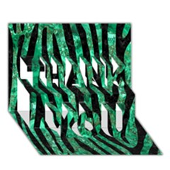 Skin4 Black Marble & Green Marble Thank You 3d Greeting Card (7x5)