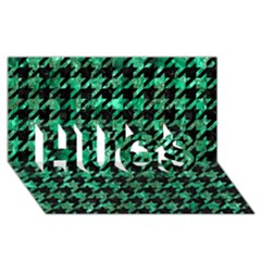 Houndstooth1 Black Marble & Green Marble Hugs 3d Greeting Card (8x4)