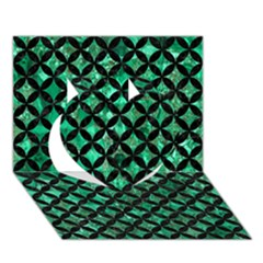 CIR3 BK-GR MARBLE (R) Heart 3D Greeting Card (7x5)  by trendistuff
