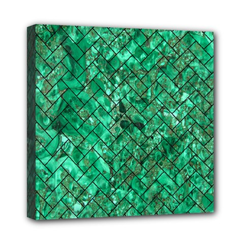 Brick2 Black Marble & Green Marble (r) Mini Canvas 8  X 8  (stretched) by trendistuff