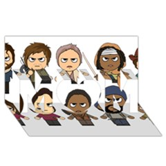 The Walking Dead   Main Characters Chibi   Amc Walking Dead   Manga Dead Mom 3d Greeting Card (8x4)  by PTsImaginarium