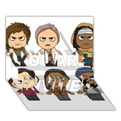 The Walking Dead   Main Characters Chibi   Amc Walking Dead   Manga Dead You Are Invited 3d Greeting Card (7x5)  by PTsImaginarium