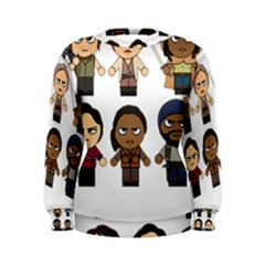 The Walking Dead   Main Characters Chibi   Amc Walking Dead   Manga Dead Women s Sweatshirt by PTsImaginarium
