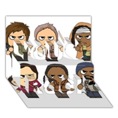 The Walking Dead   Main Characters Chibi   Amc Walking Dead   Manga Dead You Rock 3d Greeting Card (7x5)  by PTsImaginarium