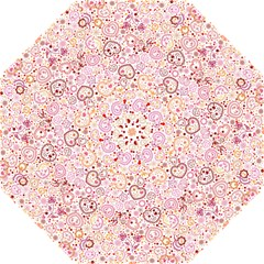 Ornamental Pattern With Hearts And Flowers  Straight Umbrellas