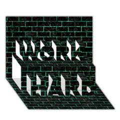Brick1 Black Marble & Green Marble Work Hard 3d Greeting Card (7x5) by trendistuff