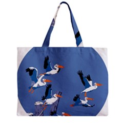 Abstract Pelicans Seascape Tropical Pop Art Mini Tote Bag by WaltCurleeArt