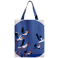 Abstract Pelicans Seascape Tropical Pop Art Zipper Classic Tote Bag by WaltCurleeArt