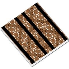 Orange And Black Boho Stripes Small Memo Pads by dflcprints