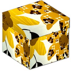 1920s Sunflower Print Storage Stool 12   by TCH01