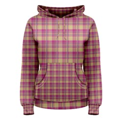 Pink Plaid Pattern Women s Pullover Hoodie