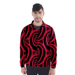 Abtract  Red Roses Pattern Wind Breaker (men)
