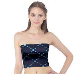 Seamless Geometric Blue Dots Pattern  Tube Top