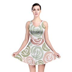 Retro Elegant Floral Pattern Reversible Skater Dress