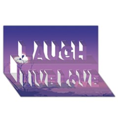 Abstract Tropical Birds Purple Sunset  Laugh Live Love 3d Greeting Card (8x4)  by WaltCurleeArt